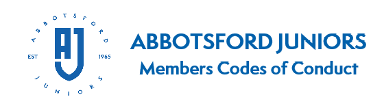 Abbotsford Juniors Members Codes of Conduct